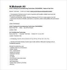 hvac testing commissioning technician resume free pdf hvac technician sample resume