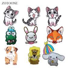 Online Shop <b>ZOTOONE</b> Animal Patch Cat <b>Fox</b> Dog Stickers Diy Iron ...