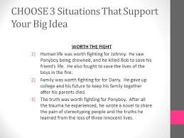 essay on the outsidersexpository essay the outsiders  choose a big idea choose one big     choose