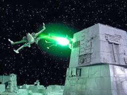 naves espaciales al disparar sus armas laser