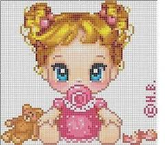 It's just a link to the image not a pattern. <b>Baby girl</b> #cross #stitch ...
