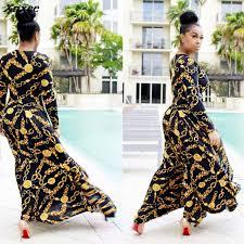 Sexy design golden chain print femme <b>vestidos</b> women summer ...