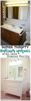 Bathroom Drawers Ikea Thrifty Bathroom Makeover With An Ikea Hemnes Vanity The Happy