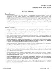athletic director resume examples resume examples 2017 professional