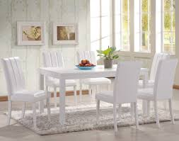 White Dining Room Chairs Gallery Of Awesome Square Dining Room Table Sets With White High