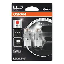 <b>Лампа</b> светодиодная <b>OSRAM W21W</b> (W3*16d) LED Premium Red ...