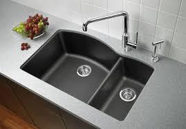 black undermounth kitchen sink