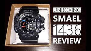<b>SMAEL 1436</b> Shock Sport Watch for <b>Men</b> Review Unboxing - YouTube