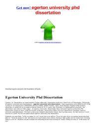 egerton university phd dissertation SlideServe