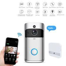 Home & Garden <b>Doorbells Smart WiFi DoorBell</b> HD 720P Camara ...