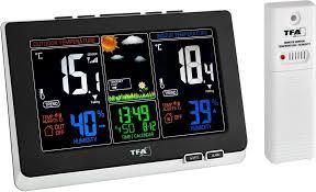 Купить <b>метеостанция TFA</b> Spring <b>35.1129</b>.01 (Black) в Москве в ...