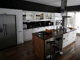 Walnut Floor Kitchen Black Kitchen Ideas With Contemporary Valais Kitchen Design With