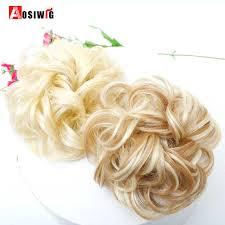 <b>AOSIWIG</b> Heat Resistant Synthetic <b>Short Curly</b> Tail <b>Chignons</b> for ...
