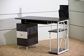 merax home office furniture computer desk workstation table student desk black black office desks