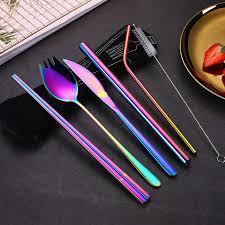<b>1set 5pcs Stainless Steel</b> Reusable Straw Metal Drinking Straws ...
