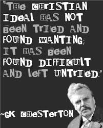 GK Chesterton.Read HisTimeless Wit and Wisdom on Pinterest | Gk ... via Relatably.com