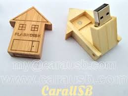 Wood <b>house shape</b> flip <b>USB</b> flash disk 8GB real estate promotional ...