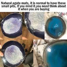 Super Big <b>Natural Agate Slice</b> Gems Crafts Stone Onyx Pad Coaster ...
