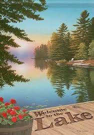 the Lake <b>Double Sided Garden</b> Flag 13 X 18 <b>Nature</b> Paintings ...