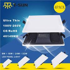 <b>T</b>-<b>SUNRISE 4</b> PCS <b>PACK</b> Ultra-Thin LED Ceiling Recessed panel ...