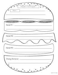 essay writing hamburger graphic organizer   homework for you paragraph writing graphic organizer hamburger