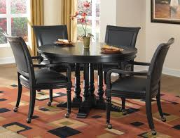 Round Dining Room Tables Black Fancy Black Round Dining Table Set On Home Design Ideas With