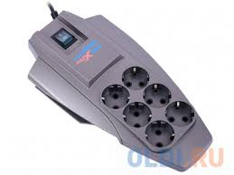<b>Сетевой фильтр ZIS Pilot</b> X-Pro 6 розеток 7 м серый — купить по ...