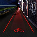 LXGY Bike Taillights, Pattern Projection <b>Bicycle Laser Taillight</b> USB ...