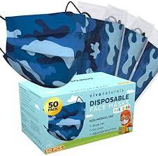 Blue Camo Face Mask for Kids (50 Pack) - Kids Face ... - Amazon.com