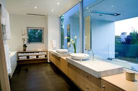 bathroom decor ideas unique decorating: equisite cool sleek bathroom and minimalis storage cabinet with modern mier tap