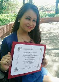 about wssu   news articles     june   students awarded gilman    berenice rodriquez