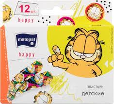 <b>Пластырь</b> детский <b>Matopat happy</b>, <b>12 шт</b>. — купить в Москве в ...