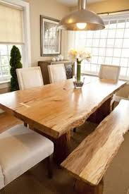 modern wood dining room sets: have formal table with full set of chairs extra bench to use when kids are middot natural wood dining