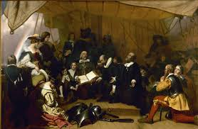 relevancy contemporary christianity post evangelic topics and embarkation of the pilgrims painting on south side of the rotunda in the united states