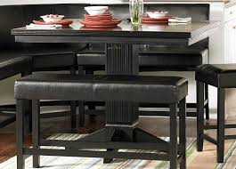 Dining Room Set Counter Height Modern Counter Height Dining Table Is Also A Kind Of Corner Black