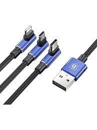 Кабель Multi USB-iP+Micro+Type-C MVP Mobile Baseus CAMLT ...