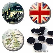 England Big Ben Fridge <b>Magnet 1PCS</b> Glass Cabochon British ...