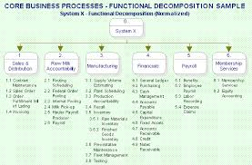 deliverable  core business process definitionsthe core business processes are illustrated in this sample using a function decomposition diagram