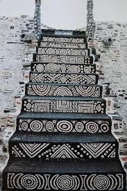stariway at the onetime home of french outsider artist robert tatin beautiful artistic patterns i also like that it makes a very bold statement without the artistic home office track