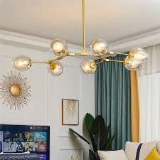 <b>Nordic LOFT Glass</b> LED Chandelier Modern pendant lamp for Living ...