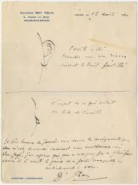 an exhibit examines van gogh s illness from a rusty revolver to a letter from fatildecopylix rey to irving stone drawings of van gogh s mutilated ear 1830 image courtesy the bancroft library university of california
