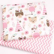 40*50cm <b>2pcs</b>/<b>lot</b> Cotton fabric sewing baby pillow tissu <b>DIY</b> doll ...