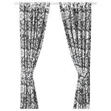 kungslilja curtains with tie backs 1 pair graywhite length 98 bnib ikea oleby wardrobe drawer