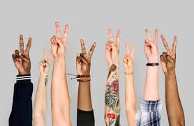 Peace Sign Stock Photos And Images - 123RF