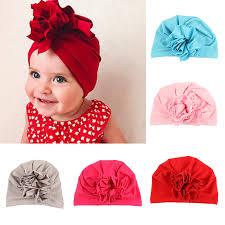 Big <b>Flower</b> Baby Beanie Bohemia Style Indian <b>Baby Girl Hat</b> ...