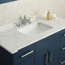 quot single sink vanity set bathroom quartz bathroom sink ariel by seacliff radcliff  quot midnight blue si