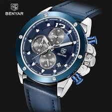 BENYAR Men's Watches <b>Top Brand Luxury</b> Sport Quartz Men ...
