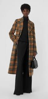 A double-breasted #Burberry coat in Italian-woven <b>brushed</b> alpaca ...