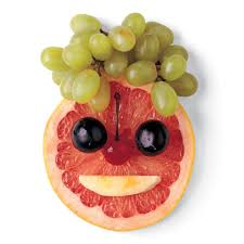 grapefruit fruit smiley face