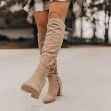<b>DIHOPE Women</b> Knee High <b>Boots</b> Lace Up Sexy High Heels ...